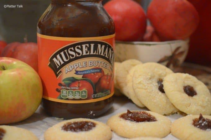 Scottish Tea Cookies with Apple Butter on Platter Talk