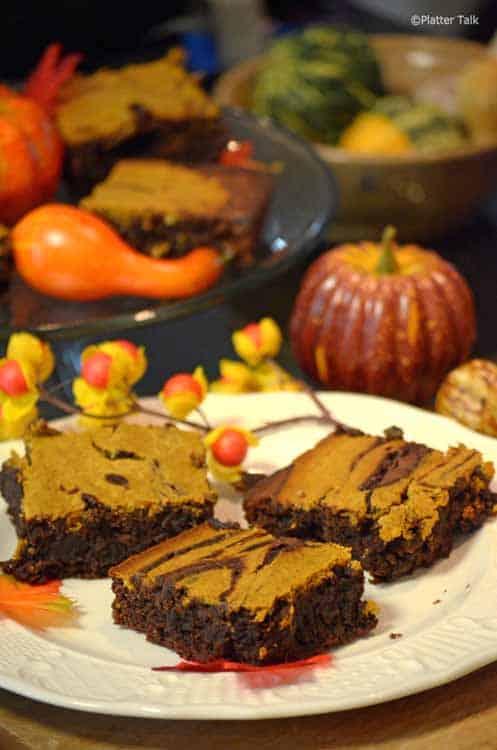 Pumpkin Cheesecake Brownies - Platter Talk
