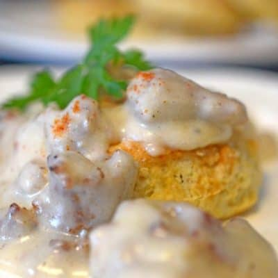 Buttermilk Biscuits and Sausage with Gravy