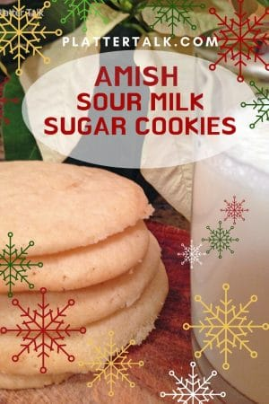 Stack of simple sugar cookies and a glass of milk.