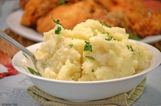 Parsley & Garlic Mashed Potatoes