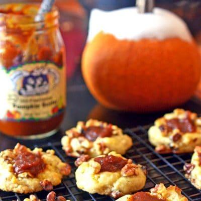 Pumpkin Butter Thumbprint Cookies