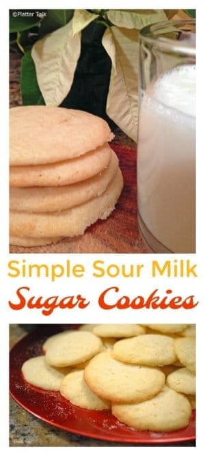 This Recipe for Simple Sour Milk Sugar Cookies is a timeess classic that was found in the recipe archives of a favorite aumt of mime. These cookires are a perfect example of how the magical power of food keeps the memories and legacies of loved ones continue to live on, throughout the ages.