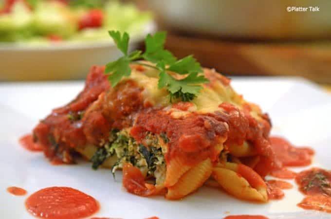 Skillet Lasagna on Platter Talk