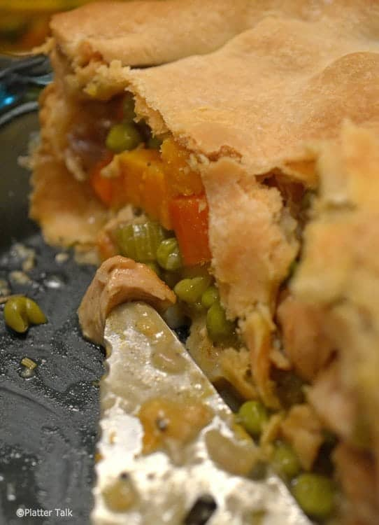Sweet Potato and Chicken Pot Pie on Platter Talk
