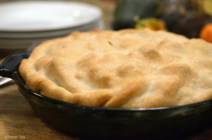 Sweet potato chicken pot pie