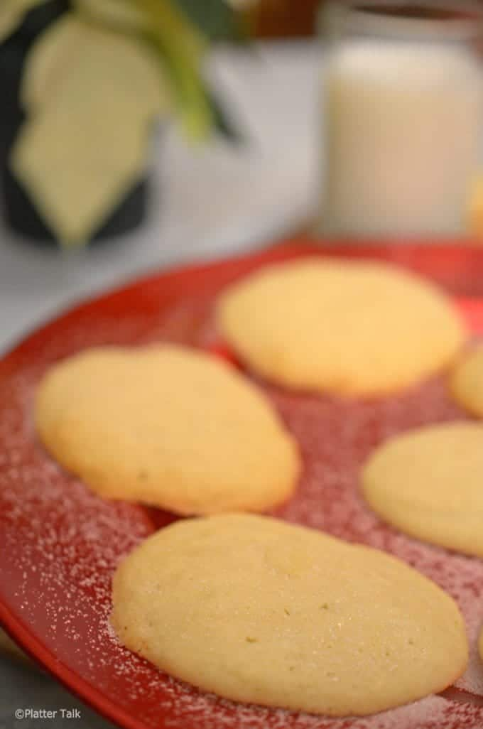 sugar cookies on platter talk