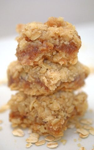 The Platter Talk Top 10 of 2014. Number 2 - Oatmeal & Apple Butter Bars. ©Platter Talk.