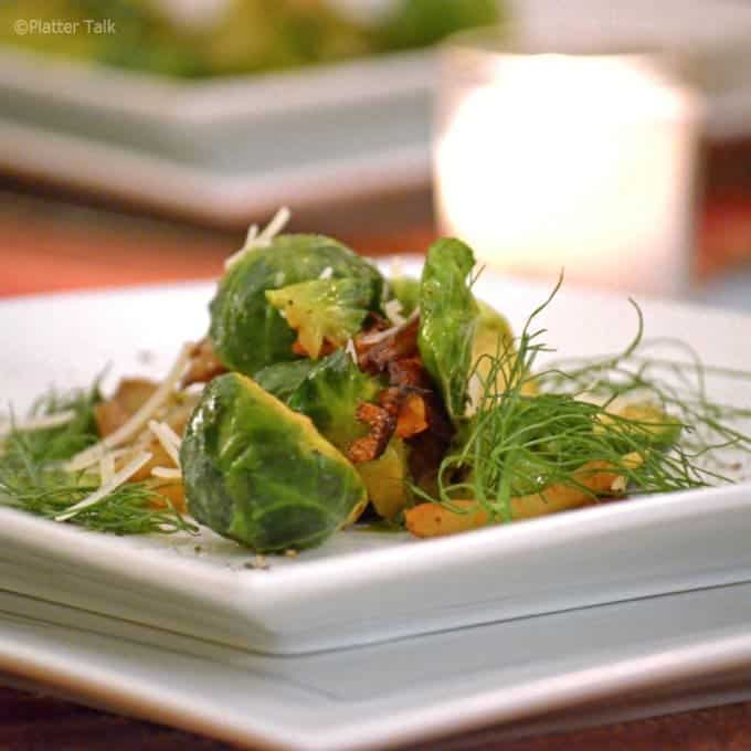 Brussels Sprouts Sauteed with Fennel from Platter Talk
