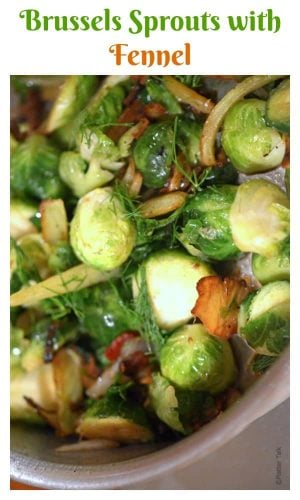 This side dish for Brussels sprouts sauteed with fennel makes for a savory and delicious addition to any dinner table while adding a portion healthy food to your menu planning as well.