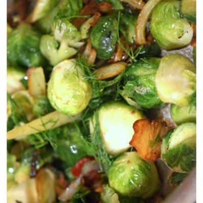 Brussels Sprouts Sauteed with Fennel