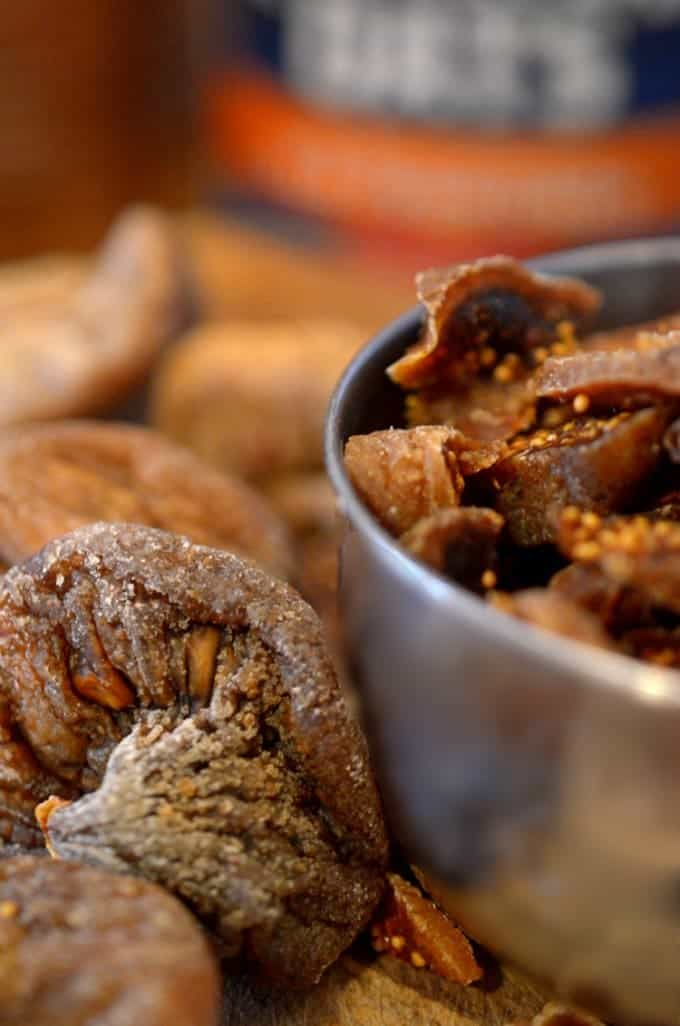 Dried figs for fig bars.