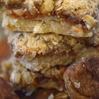 fig bars recipe on platter talk food blog.