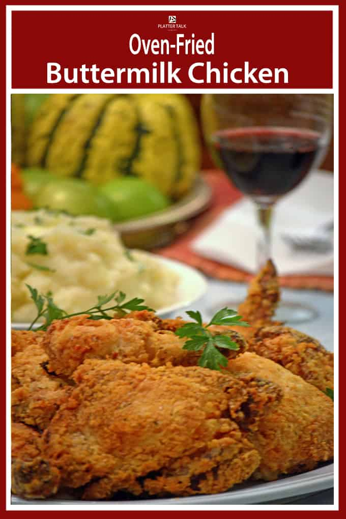 Oven Fried Buttermilk Chicken Half Friedhalf Baked All Delicious