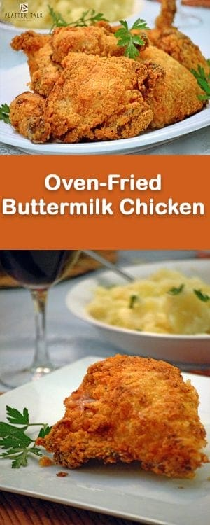 Oven Fried Buttermilk Chicken Half Fried Half Baked