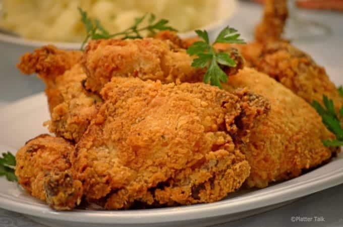 Oven fried Buttrmilk Chicken