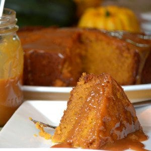 Our Slow Cooker Sticky Caramel Pumpkin Cake