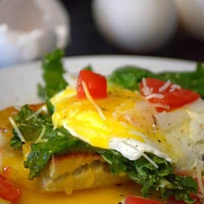 Eggs and Kale Bruschetta