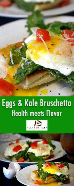 Eggs and Kale Bruschetta - Where Health meets Flavor.