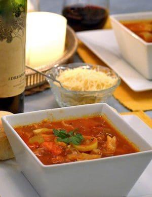 Hearty Italian Soup recipe on Platter Talk food blog.