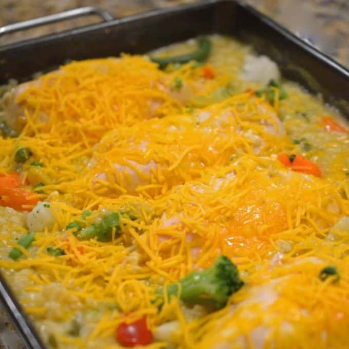 Cheesy Chicken and Rice Casserole from Platter Talk