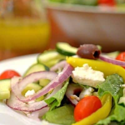 Greek Salad with Easy Greek Salad Dressing
