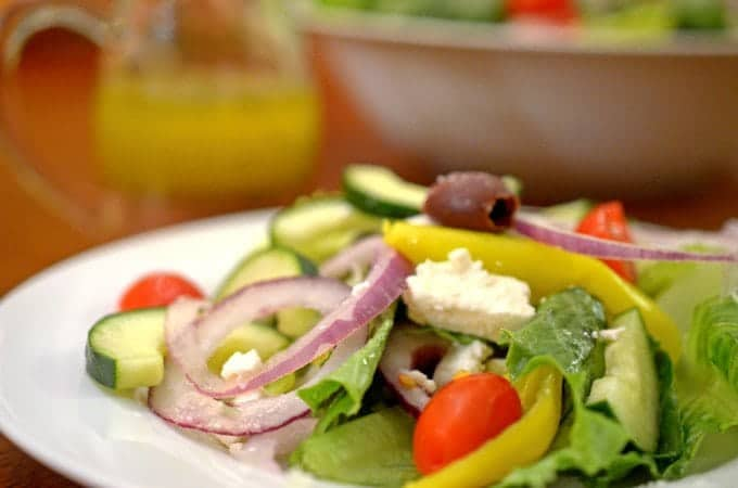 Homemade Greek Salad Dressing Recipe from Platter Talk.