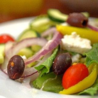 Greek Salad with Easy Greek Salad Dressing