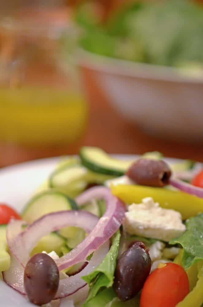Homemade Greek Salad dressing from Platter Talk