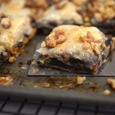 Chocolate Brownie Baklava