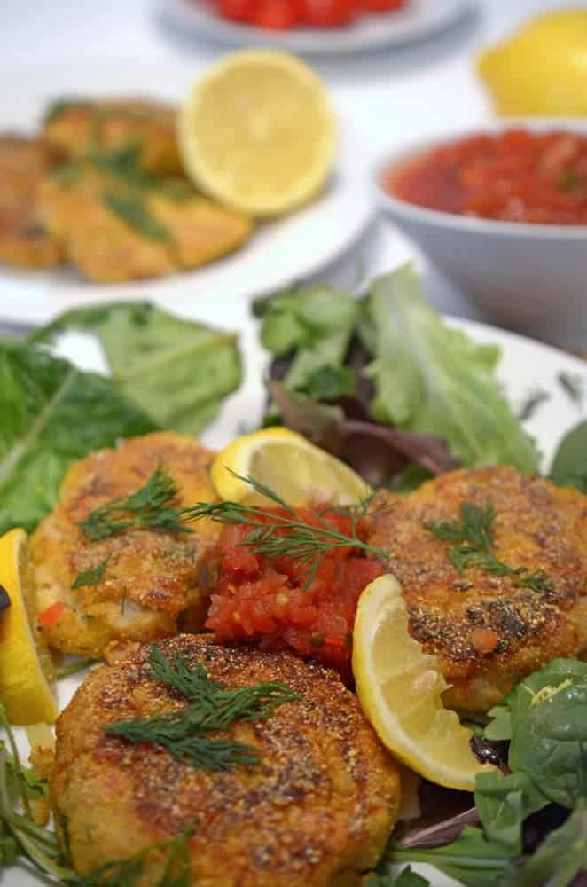 This Cod Cakes Recipe is made by using fresh dill and lemon.