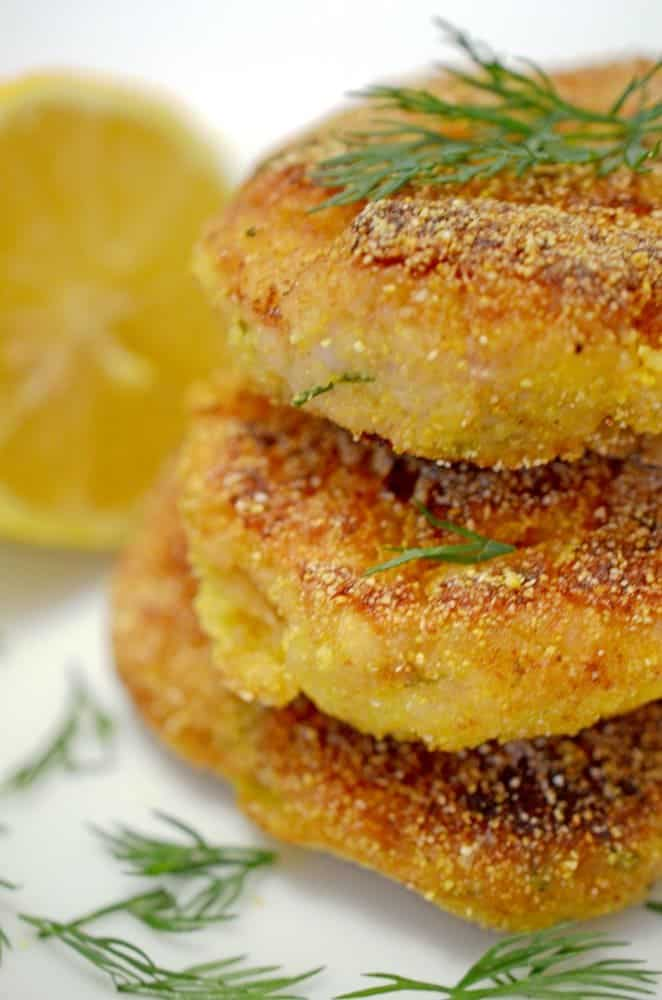 A stack of fish cakes.