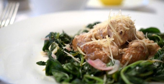 Italian Turkey Sausage and Spinach