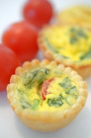 Mini quiches on Platter Talk