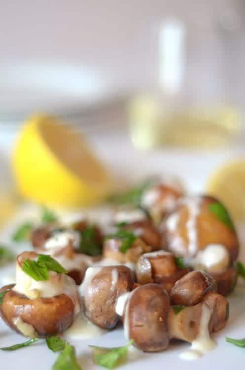 Lemon Caper Portabella Buttons