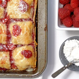 Raspberry Brownie Baklava