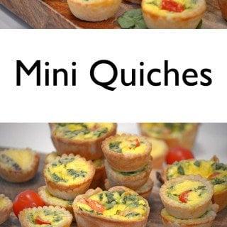 Mini Quiches on Platter Talk