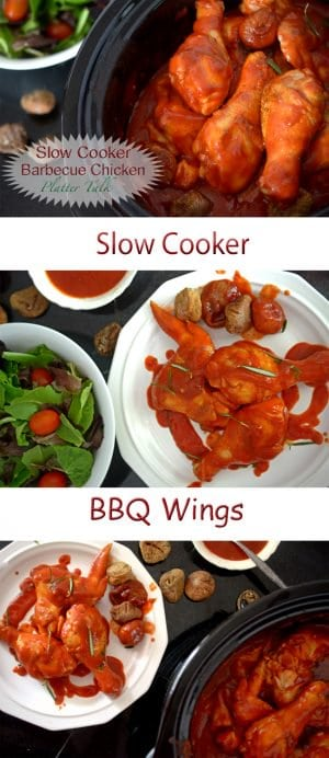 This recipe for Slow Cooker BBQ Wings is a one put wonder of comfort and flavor. Make it your own by using what have on hand and let your slow cooker do the work!