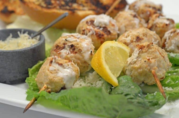 Chicken Caesar Kebabs from Platter Talk