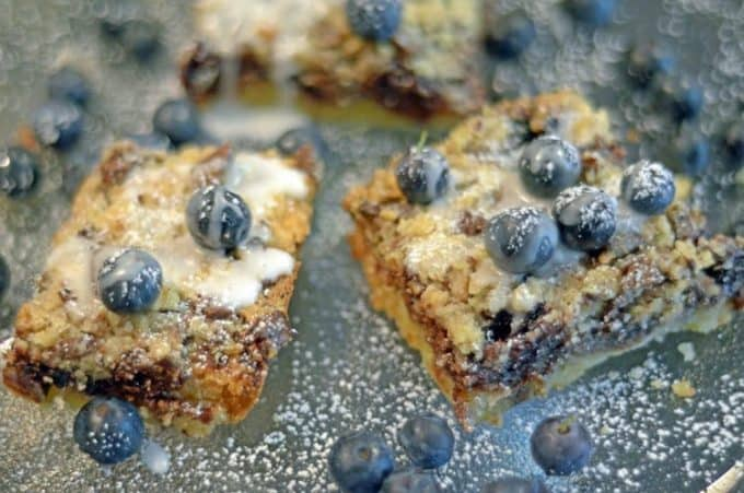Blueberry Chocolate Streusel Bars