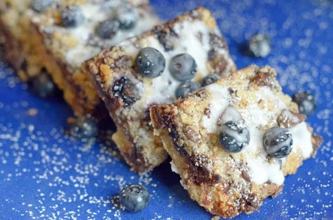 Blueberry Chcoolate Streusel Bars