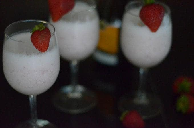 Greek Yogurt Strawberry Bellini