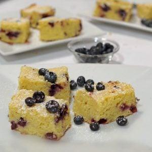 Blueberry Vanilla Pudding Blondies