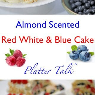 Almond Scented Red White & Blue Cake