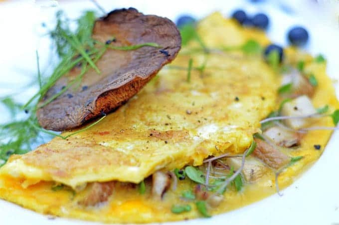 Mushroom Omelette Recipe with Microgreens
