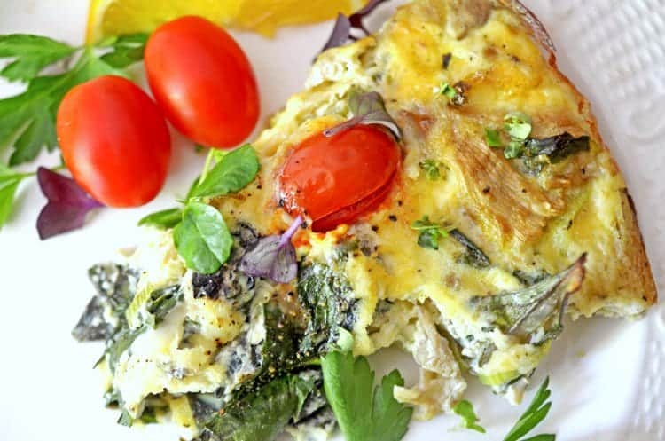 crustless vegetable quiche recipe
