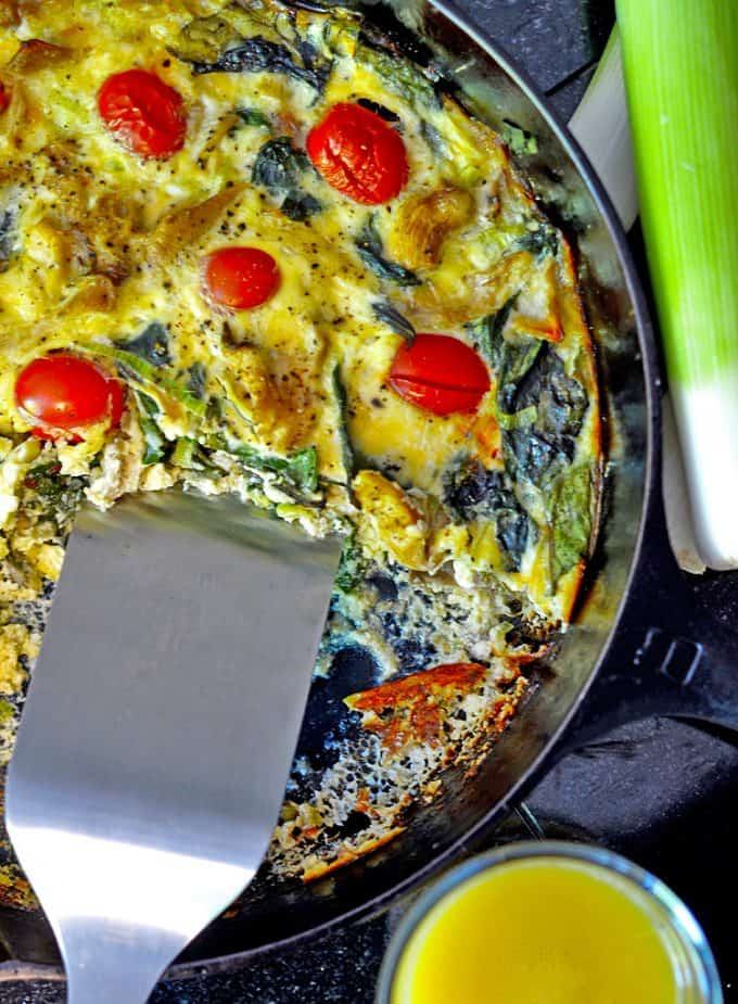 This cast iron quiche is gluten-free!
