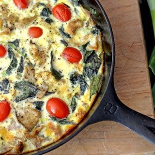 Crustelss Vegetarian Quiche