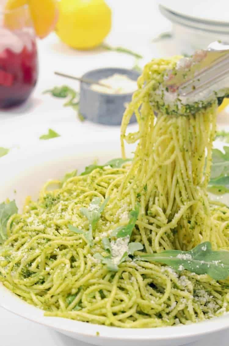 Arugula Pesto Pasta
