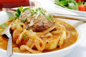 French Onion Salisbury Steak Recipe & Cheesy Garlic Toast